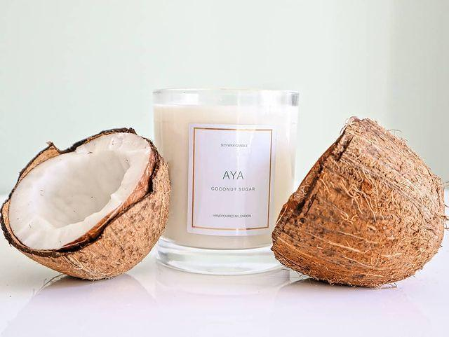 """<p>Hand poured in London, these luxury soy wax candles are inspired by nostalgia and love and are eco-friendly. Scents include Sunset Sweet, Melanin Dreams and Coconut Sugar. Your house has never smelled better. </p><p><a class=""""link rapid-noclick-resp"""" href=""""https://www.ayaaromas.co.uk"""" rel=""""nofollow noopener"""" target=""""_blank"""" data-ylk=""""slk:SHOP NOW"""">SHOP NOW</a><br></p><p><a href=""""https://www.instagram.com/p/CB5O8AmJJVs/"""" rel=""""nofollow noopener"""" target=""""_blank"""" data-ylk=""""slk:See the original post on Instagram"""" class=""""link rapid-noclick-resp"""">See the original post on Instagram</a></p>"""