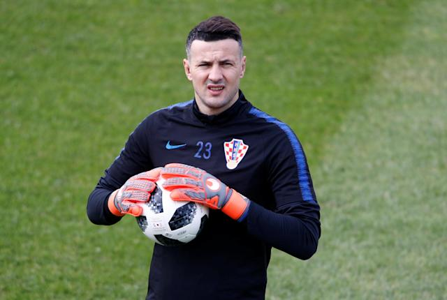 Soccer Football - World Cup - Croatia Training - Croatia Training Camp, Roschino, Russia - June 23, 2018 Croatia's Danijel Subasic during training REUTERS/Anton Vaganov