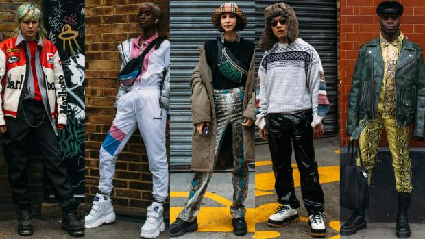 dd9c8afc24c8 The Street Style Crowd Made Platform Sneakers a Thing at London Fashion  Week Men s