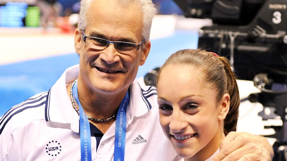 Pictured here, American coach John Geddert with Olympic gymnast Jordyn Wieber.