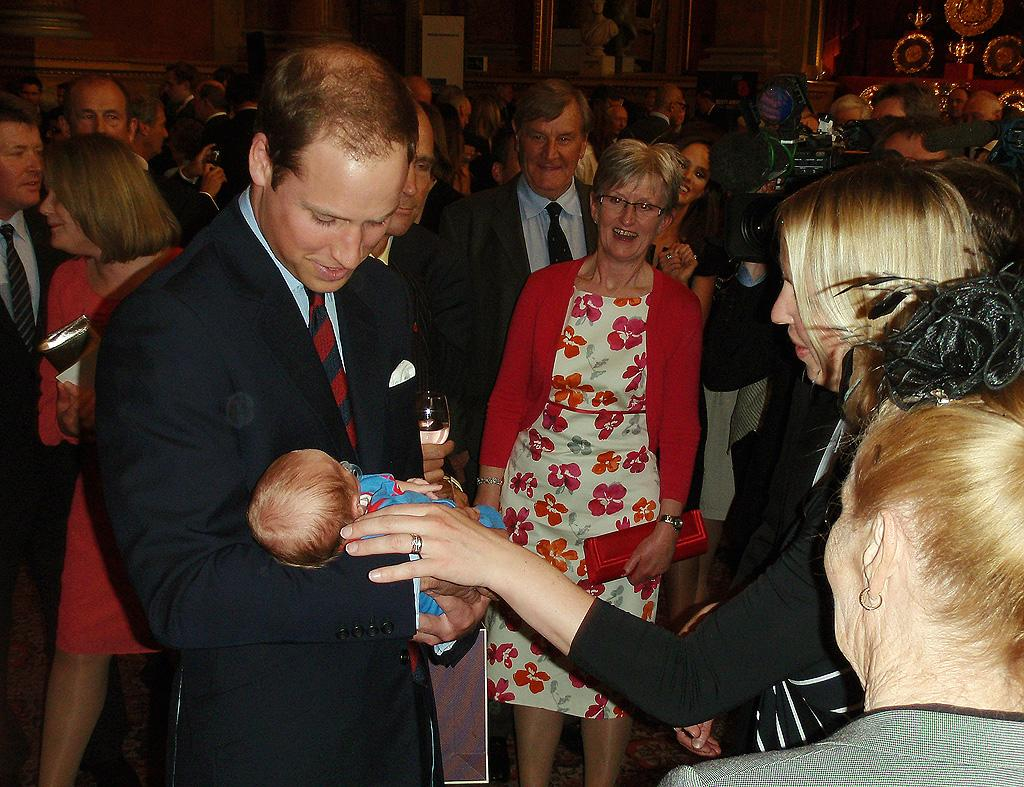 Prince William, however, greeted one of the event's youngest guests, a 3-week-old baby boy named Hugo. Though a few onlookers reportedly joked about the fact the couple must be training for parenthood, the royals dismissed them.