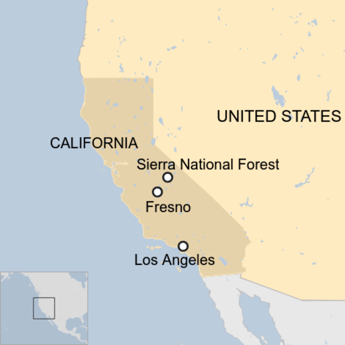 Helicopters rescue dozens trapped by California wildfire