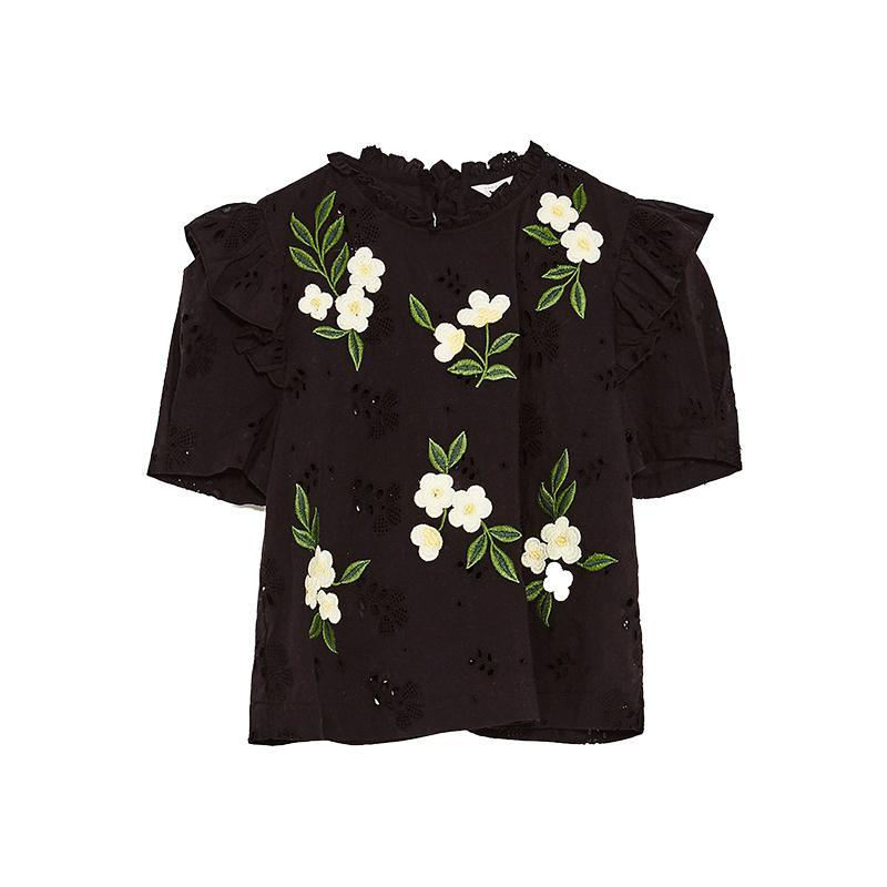 """<p><a href=""""https://www.zara.com/us/en/sale/woman/tops/view-all/top-with-embroidered-dasies-c732008p4276074.html"""" rel=""""nofollow noopener"""" target=""""_blank"""" data-ylk=""""slk:Top With Embroidered Daisies,"""" class=""""link rapid-noclick-resp"""">Top With Embroidered Daisies,</a> <span><span>$40</span> $26</span></p>"""