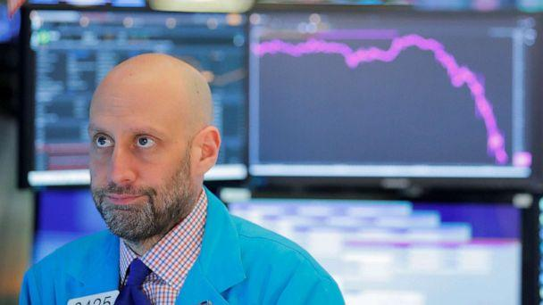 PHOTO: A trader works on the floor of the New York Stock Exchange as coronavirus disease (COVID-19) cases in the city of New York rise, in New York, March 16, 2020. (Lucas Jackson/Reuters)