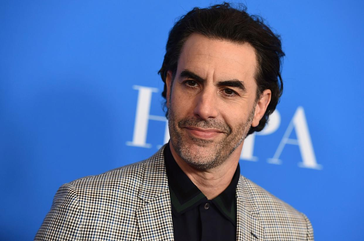Sacha Baron Cohen took aim at Facebook and other tech platforms during a speech at an Anti-Defamation League summit on Thursday. (Photo: Jordan Strauss/Invision/AP)