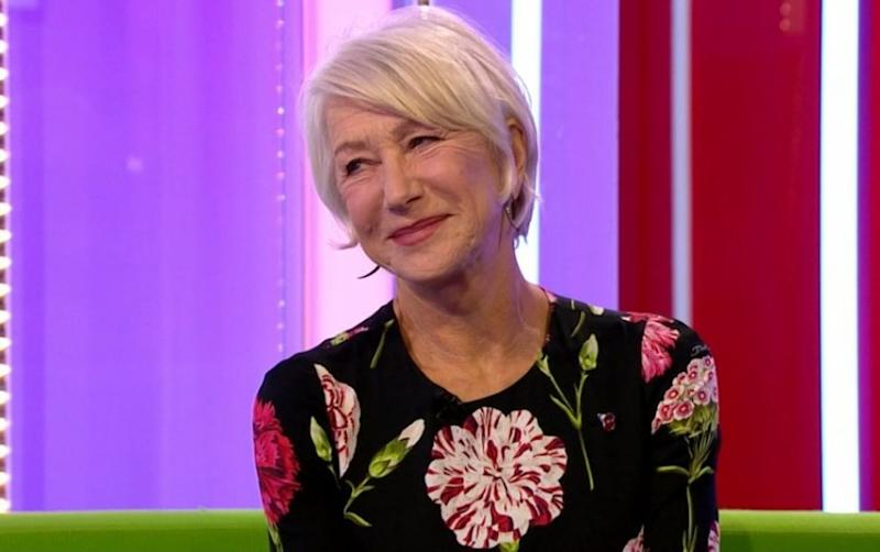 Dame Helen Mirren was less-than-impressed with 'The One Show' host Alex Scott's description of her former roles in Wednesday's broadcast (BBC)