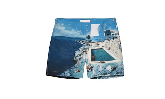 "<p>Bulldog swim shorts, $345, <a href=""https://www.orlebarbrown.com/us/men/swim-shorts/bulldog/blue/263115.html?dwvar_263115_color=2337"" rel=""nofollow noopener"" target=""_blank"" data-ylk=""slk:orlebarbrown.com"" class=""link rapid-noclick-resp"">orlebarbrown.com</a> </p>"