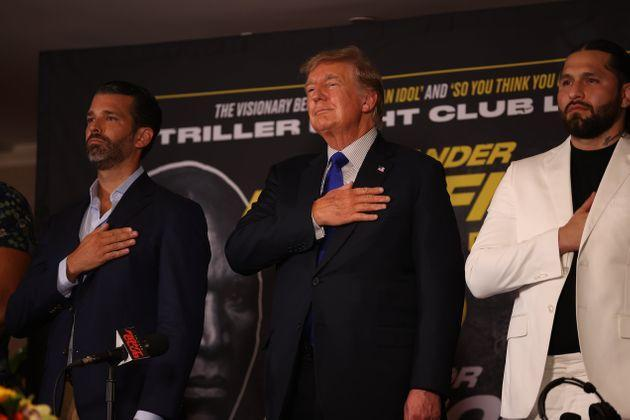Donald Trump and Donald Trump, Jr., chimed in with analysis for boxing matches in Florida. (Photo: Anadolu Agency via Getty Images)