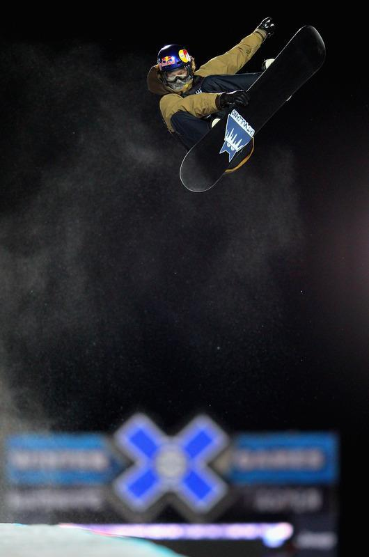 ASPEN, CO - JANUARY 29: Iouri Podladtchikov of Switzerland soars above the pipe as he took second place in the men's snowboard superpipe final during Winter X Games 2012 at Buttermilk Mountain on January 29, 2012 in Aspen, Colorado. (Photo by Doug Pensinger/Getty Images)