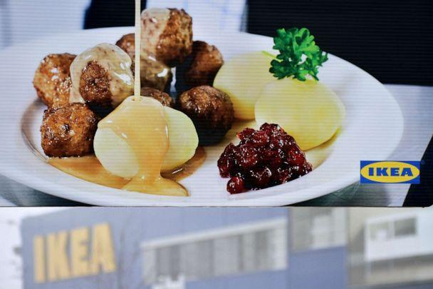 PHOTO: Meatballs are displayed on an ad in front of an IKEA store in Brno, Czech Republic, Feb. 25, 2013. (AFP/Getty Images, FILE)