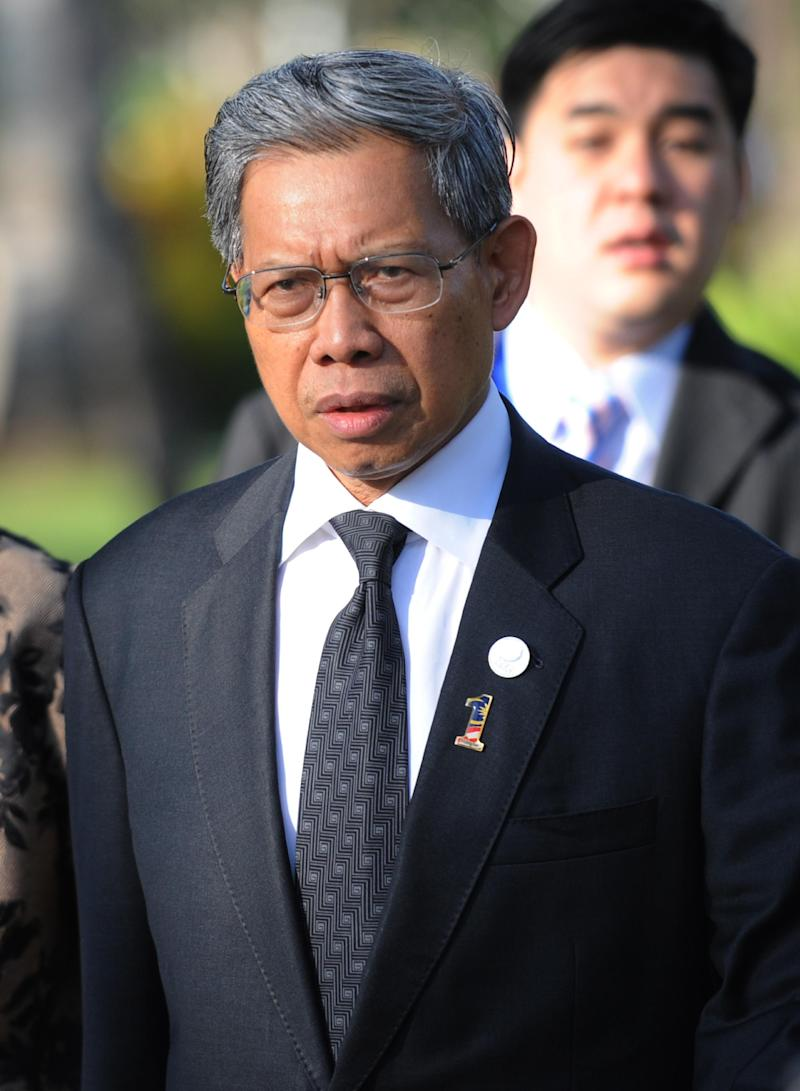 File photo shows Malaysian Trade Minister Mustapa Mohamed arrives for the Asia Pacific Economic Cooperation (APEC) ministerial meeting in Nusa Dua on the Indonesian island of Bali on October 5, 2013