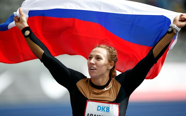 <span>Mariya Abakumova failed a doping test which led to Sayers being promoted to third</span> <span>Credit: AP </span>