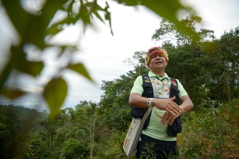 """Gregorio Mirabal warns there are two outcomes for the Amazon: the """"apocalypse, with no return"""" or saving 80 percent of the rainforest (AFP/Rodrigo BUENDIA)"""