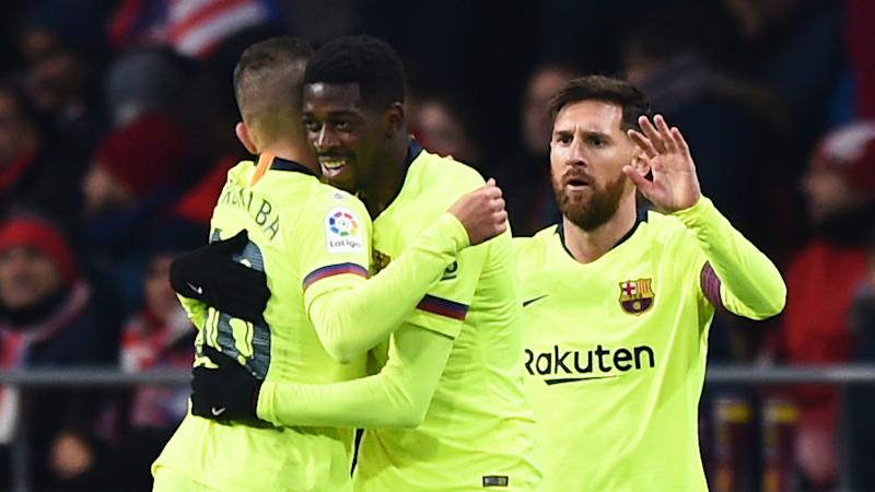 Atletico Madrid Barcelona Dembele Earns Point In Top of the table Clash