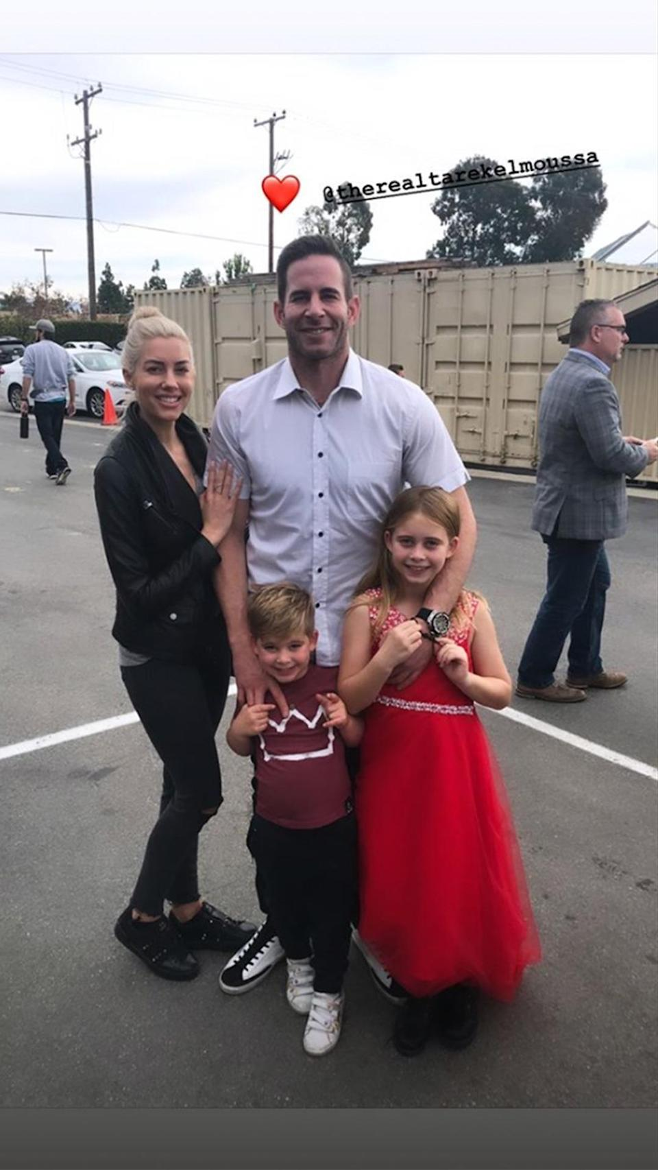 """<p>Speaking to <i>Us</i> in January 2021, the dad-of-two added that <a href=""""https://www.usmagazine.com/celebrity-moms/news/tarek-el-moussa-christina-anstead-are-coparenting-better/"""" rel=""""nofollow noopener"""" target=""""_blank"""" data-ylk=""""slk:Christina gets along with his fiancée,"""" class=""""link rapid-noclick-resp"""">Christina gets along with his fiancée,</a> <i>Selling Sunset</i> realtor Heather Rae Young (pictured), whom he proposed to in July 2020 after one year of dating. The two women """"coparent too,"""" El Moussa said. """"It's strictly business, but yeah. Everybody gets along.""""</p> <p>Young and Haack even exchanged well wishes and flowers for Mother's Day. Young often calls herself Taylor and Brayden's """"bonus mom.""""</p>"""