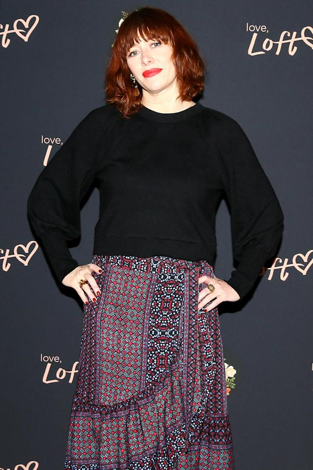 Stylist Penny Lovell attends the Loft Plus panel in New York. (Photo: Angela Pham/BFA/REX/Shutterstock)