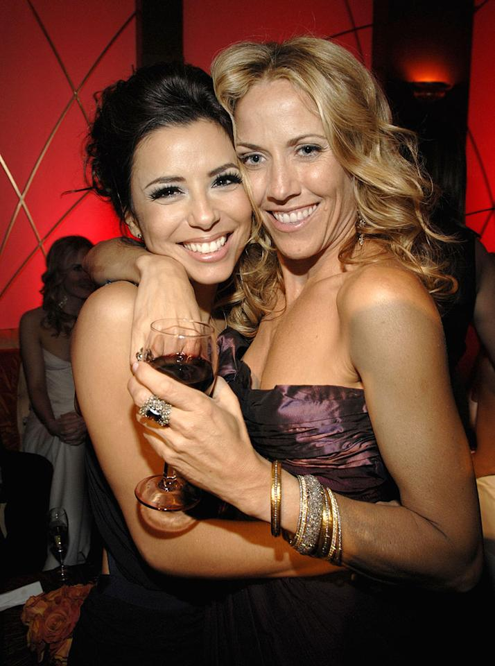 """<a href=""""/eva-longoria/contributor/651519"""">Eva Longoria</a> and <a href=""""/sheryl-crow/contributor/36693"""">Sheryl Crow</a> at the In Style and Warner Bros. 2007 Golden Globe After Party."""