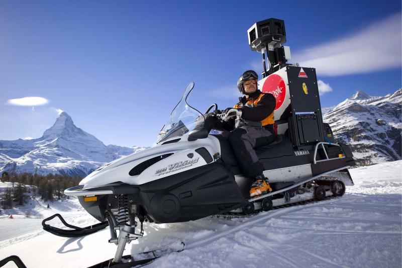 "FILE - In this Feb. 21, 2011 file picture the Google Street View Snow Mobile takes pictures of ski slopes for Google's Street View in front of the Matterhorn mountain in Zermatt, Switzerland. Switzerland's supreme court has ruled that Google doesn't need to be perfect when it comes to privacy. The Internet giant has won a partial repeal of a lower court decision that required the company to guarantee absolute anonymity for people pictured in its popular Street View service. It must be accepted that up to a maximum of 1 percent of the images uploaded are insufficiently anonymized,"" the Swiss Federal Tribunal said in a statement Friday June 8, 2012. (AP Photo/Keystone, Olivier Maire,File)"