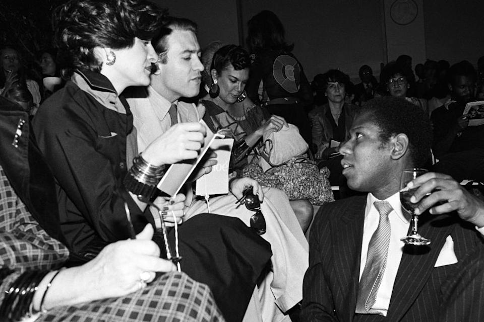 US Vogue's Andre Leon Talley with PalomaPicasso and her then husband, playwright Rafael Lopez-Sanchez, in 1979