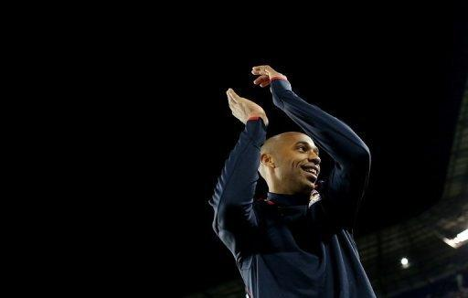 New York Red Bulls striker Thierry Henry, pictured here in October, made a similar switch last season and olivier Giroud said he would relish the prospect of teaming up with the 35-year-old if his fellow striker were to join the club for a third time