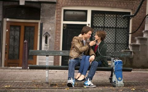 Ansel Elgort and Shailene Woodley in The Fault in Our Stars (2014) - Credit: James Bridges/AP