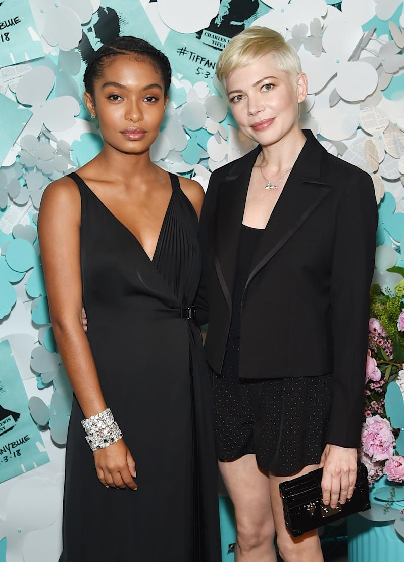 Yara Shahidi and Michelle Williams attend the Tiffany & Co. Paper Flowers event and Believe In Dreams campaign launch.