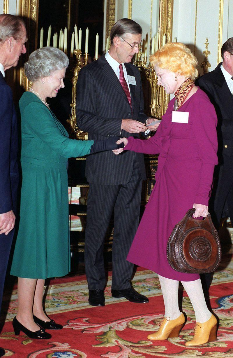 <p>Fashion designer Vivienne Westwood is known for her off-beat personality and famously forgot to wear knickers under her dress when receiving an OBE in 1992. A few years later at a luncheon at Buckingham Palace, she opted for tights. Wise.</p>