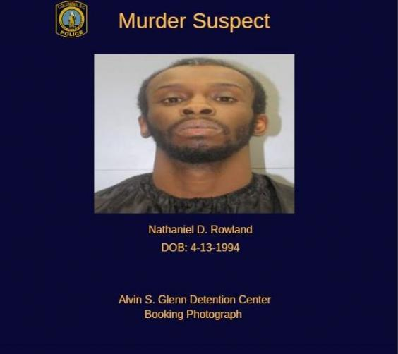 Nathanial David Rowland, 24, was arrested on suspicion of murder and kidnapping (Columbia Police department )