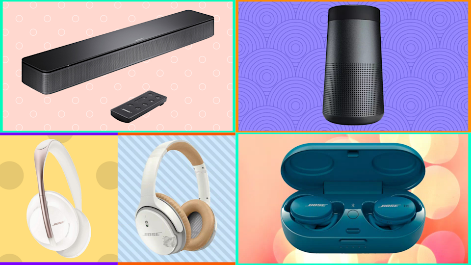 All sorts of Bose headphones, speakers and soundbars are on sale at QVC. (Photo: Bose)