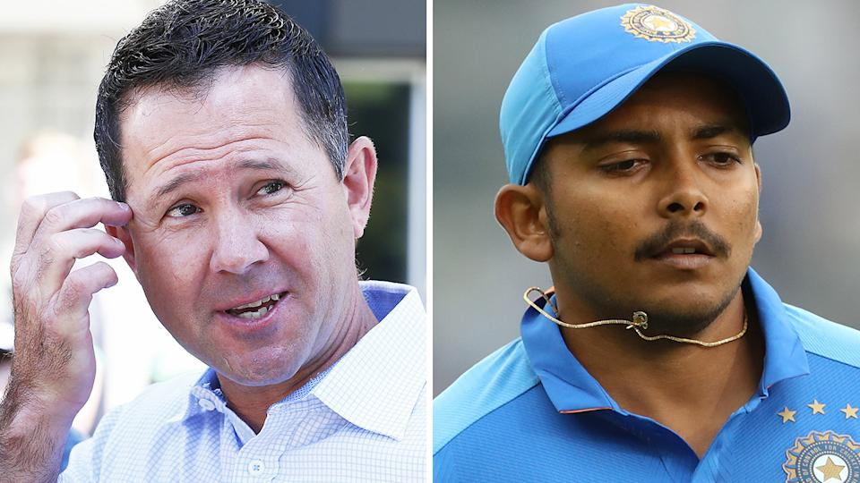 Ricky Ponting is hoping his Dehli Capitals star batsman Prithvi Shaw learned from his form slump late last year, as he prepares for another season with the IPL franchise. Pictures: Getty Images