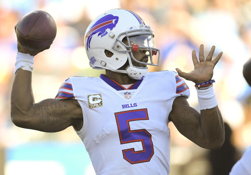 Quarterback Tyrod Taylor is once again the Buffalo Bills' starter, after he was benched last week. (AP)