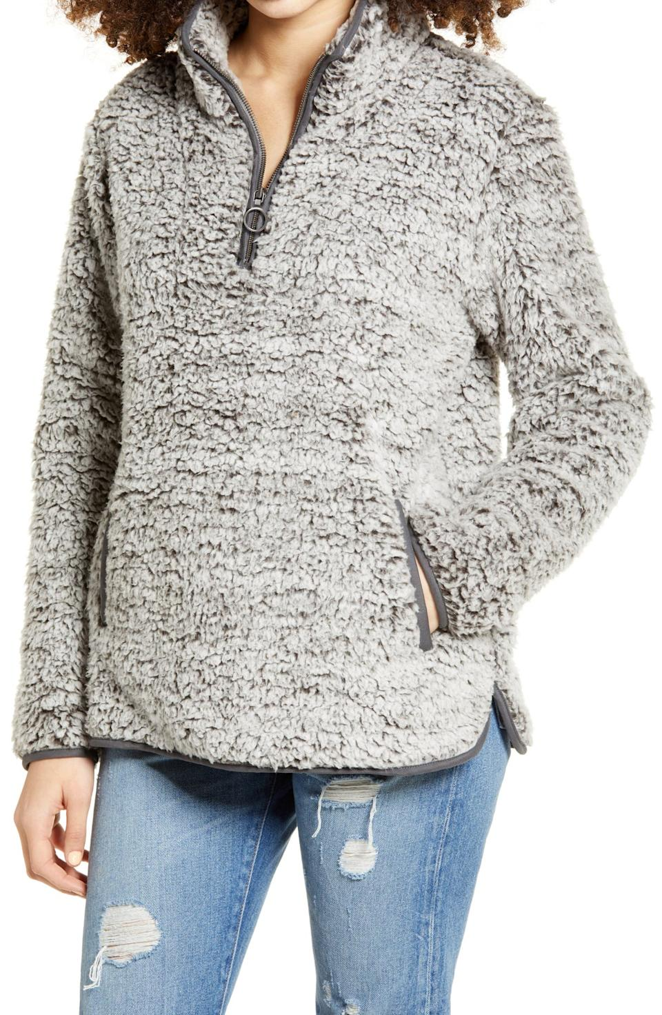 Thread & Supply Wubby Fleece Pullover. Image via Nordstrom.