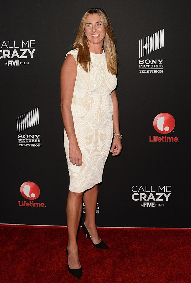 "President of Entertainment and Media for A E Networks, Nancy Dubuc attends the premiere of Lifetime's ""Call Me Crazy: A Five Film"" at Pacific Design Center on April 16, 2013 in West Hollywood, California."