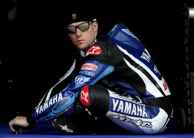 Yamaha Factory Racing's Us Ben Spies is pictured during a Moto GP training session at the Catalunya racetrack in Montmelo, near Barcelona, on June 4, 2012. AFP PHOTO / JOSEP LAGOJOSEP LAGO/AFP/GettyImages