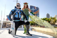 """<p>Cosplayers dressed as """"Mr. Freeze"""" and """"Poison Ivy"""" at Comic-Con International on July 20, 2018, in San Diego.<br>(Photo: Christy Radecic/Invision/AP) </p>"""
