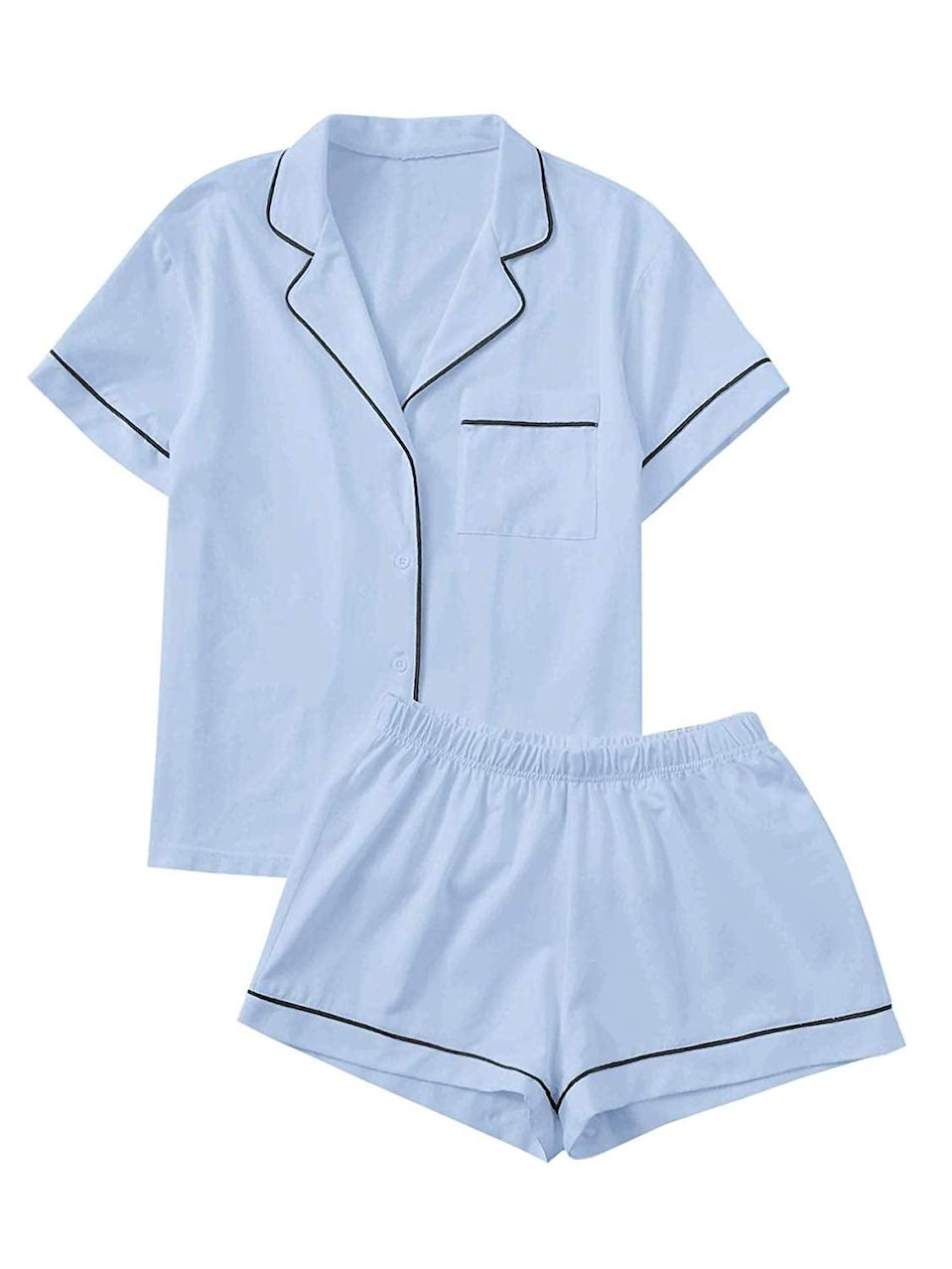 <p>This classic <span>Floerns Collared Two-Piece Pajama Set</span> ($28) will always be a winner, just read the more than 3,000 positive reviews. People love that the material is stretchy, and the soft feel of the fabric.</p>