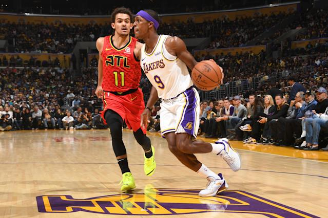 The Lakers will be forced to improvise at backup point guard following Rajon Rondo's hand surgery. (Getty)