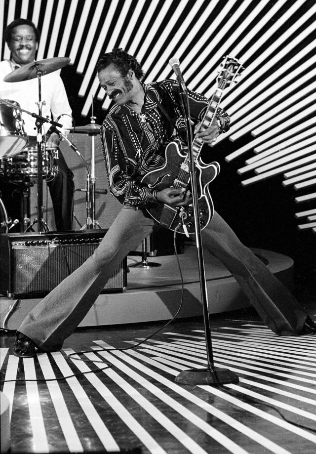 "<p>The rock 'n' roll pioneer died on March 18 at age 90. He originated a number of rock's greatest, earliest hits, including ""Maybellene"" and ""Johnny B. Goode."" (Photo: AP) </p>"