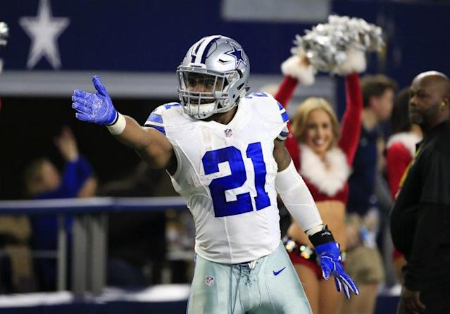 Ezekiel Elliott is reportedly appealing a misdemeanor speeding conviction after he was clocked driving 100 mph. (AP)