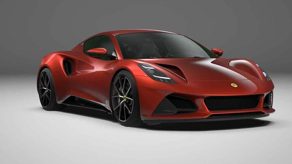 Lotus Emira First Edition, with a V6 engine, breaks cover