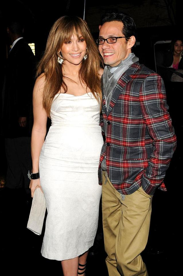 """Although Jennifer Lopez had two failed marriages under her belt, she wasn't afraid to take the plunge again when she secretly wed Marc Anthony at her home in Beverly Hills in 2004. Apparently, the third time is the charm! Bryan Bedder/<a href=""""http://www.gettyimages.com/"""" target=""""new"""">GettyImages.com</a> - April 1, 2009"""
