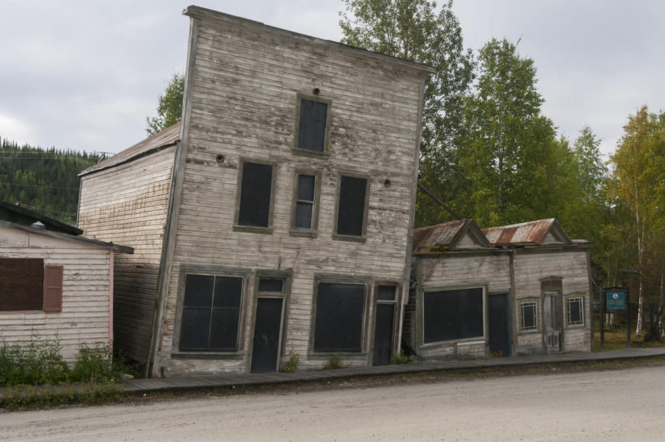 Canada's historic Gold Rush buildings are caving in as permafrost thaws