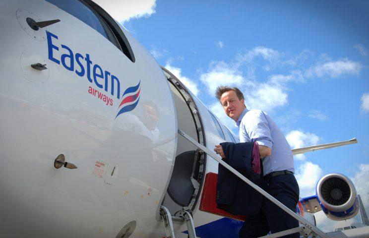 The Tory party spent £29,000 flying then leader David Cameron around the country in one day (Stefan Rousseau/PA Images)