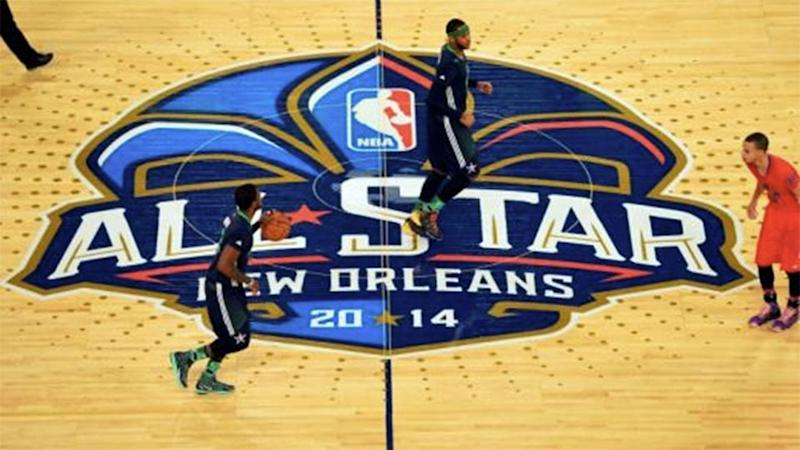 Kyrie Irving brings the ball up court during the 2014 NBA All-Star Game. Photo: Reuters