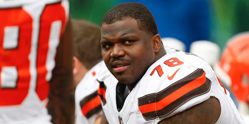 Cleveland Browns offensive tackle Greg Robinson
