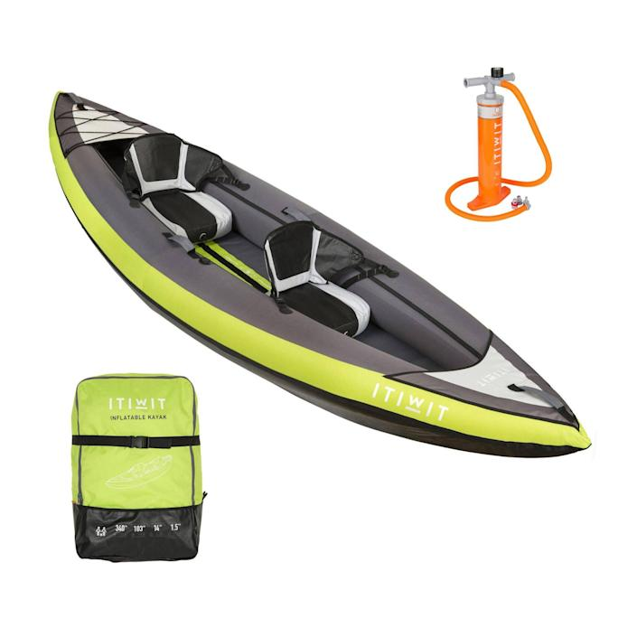 Itiwit Inflatable Recreational Sit-on Kayak with Pump