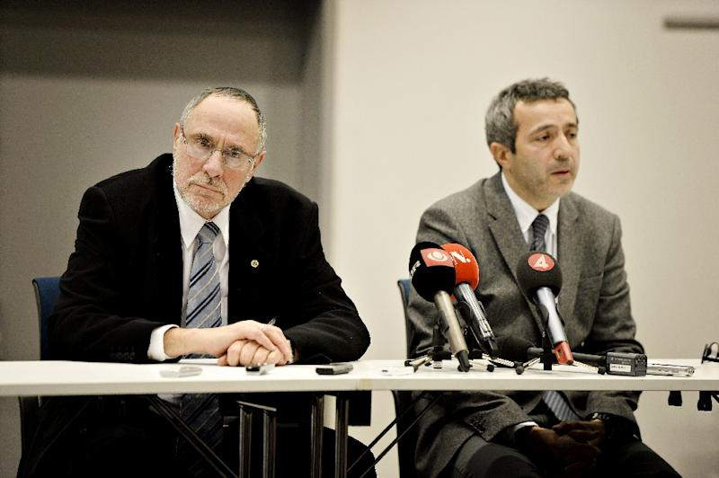 Dan Rosenberg Asmussen (L), seen in 2015, the head of the Jewish community in Denmark, urged police to open an investigation into a possible case of incitement to racial hatred