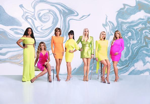 "The Real Housewives of Beverly Hills Season 10 - Pictured: (l-r) Garcelle Beauvais, Denise Richards, Lisa Rinna, Kyle Richards, Erika Girardi, Dorit Kemsley, Teddi Mellencamp Arroyave<span class=""copyright"">John Tsiavis—Bravo/NBCU Photo Bank/Getty Images</span>"