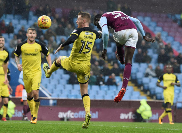 "Soccer Football - Championship - Aston Villa vs Burton Albion - Villa Park, Birmingham, Britain - February 3, 2018 Aston Villa's Albert Adomah scores their second goal Action Images/Alan Walter EDITORIAL USE ONLY. No use with unauthorized audio, video, data, fixture lists, club/league logos or ""live"" services. Online in-match use limited to 75 images, no video emulation. No use in betting, games or single club/league/player publications. Please contact your account representative for further details."