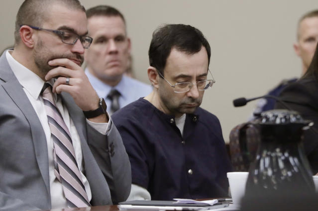 Larry Nassar's decades of abuse had a profound impact on his victims, and now his enablers are being held accountable. (AP)